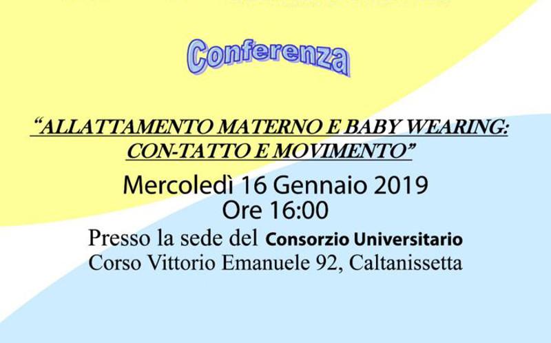 """Conferenza """"Allattamento materno e baby wearing"""""""